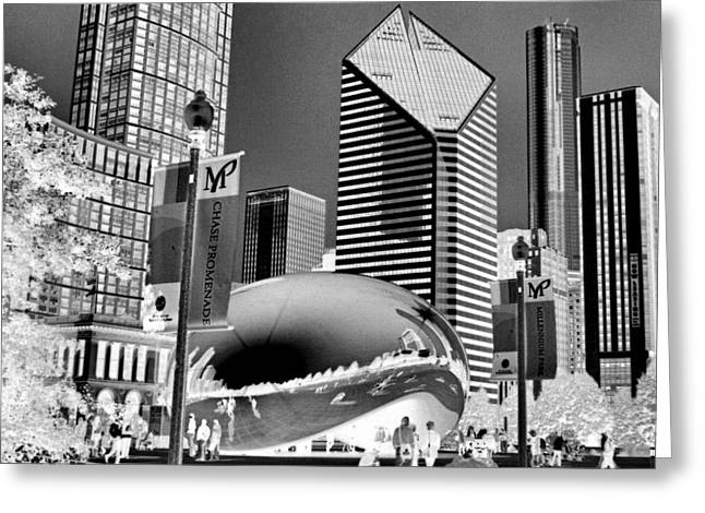 Cloud Gate Greeting Cards - The Bean - 2 Greeting Card by Ely Arsha