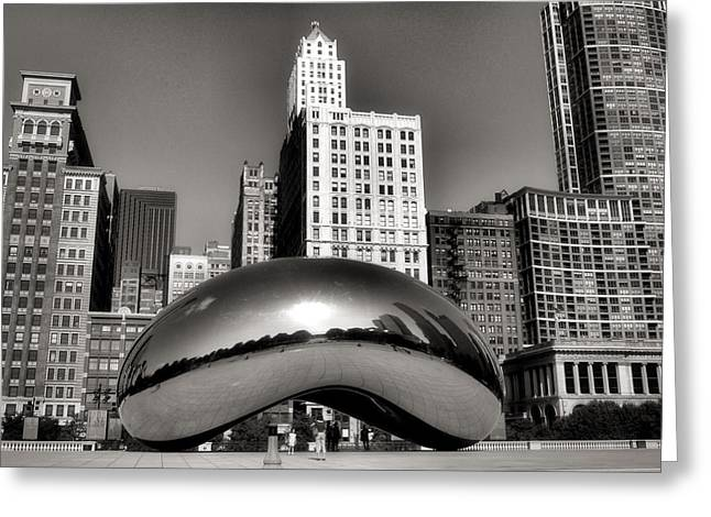 Chicago Building Greeting Cards - The Bean - 3 Greeting Card by Ely Arsha