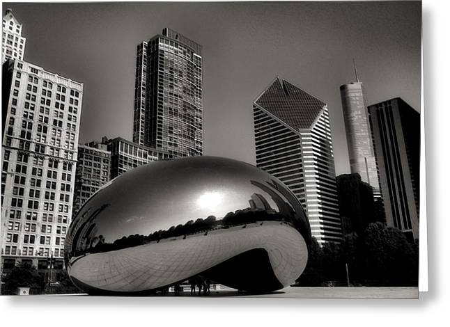 Chicago Building Greeting Cards - The Bean - 4 Greeting Card by Ely Arsha
