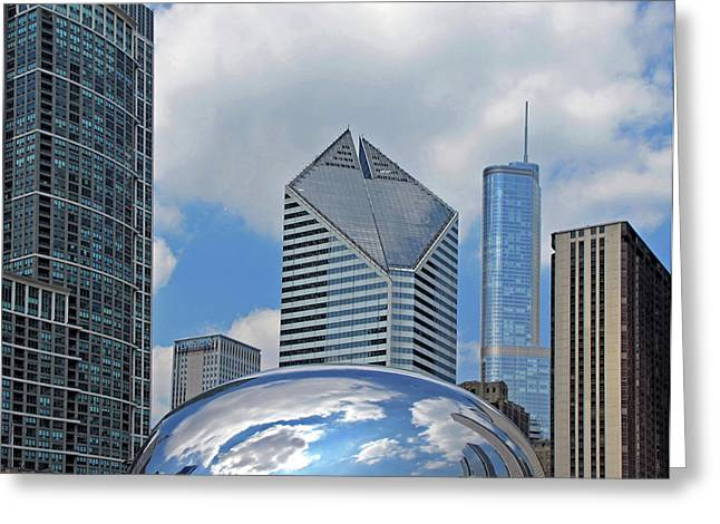 The Bean Greeting Cards - The Bean Chicago Ill Greeting Card by Dave Mills