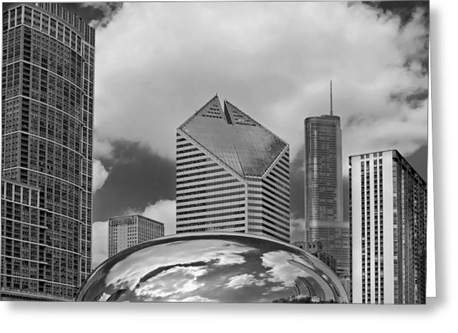 The Bean Greeting Cards - The Bean Chicago Illinois Greeting Card by Dave Mills