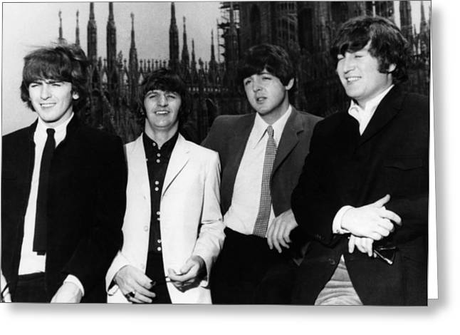 John Lennon Photographs Greeting Cards - THE BEATLES, 1960s Greeting Card by Granger