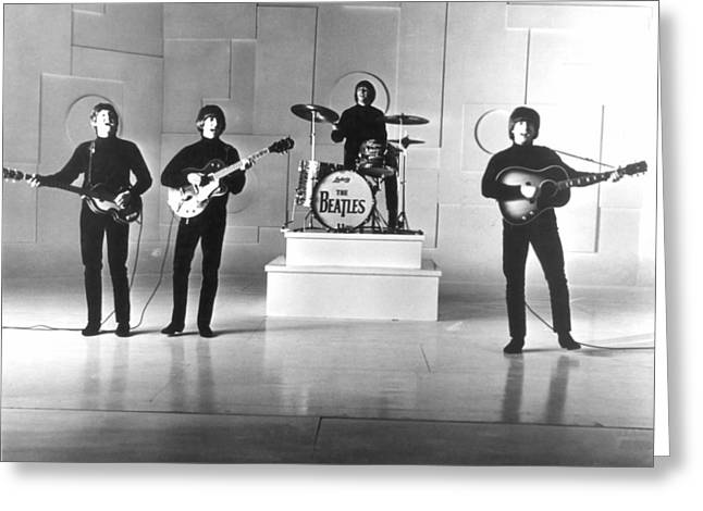 Harrison Greeting Cards - The Beatles, 1965 Greeting Card by Granger