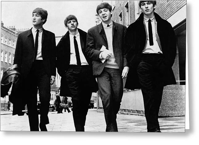 Harrison Greeting Cards - The Beatles Greeting Card by Granger