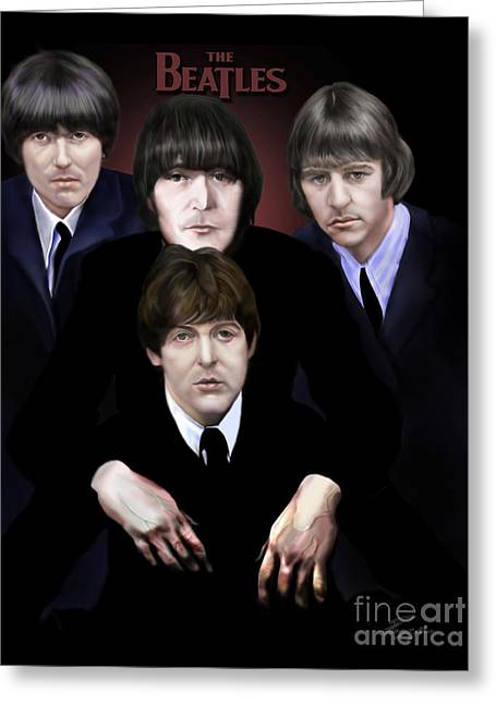 Ringo Starr Greeting Cards - The Beatles Greeting Card by Reggie Duffie