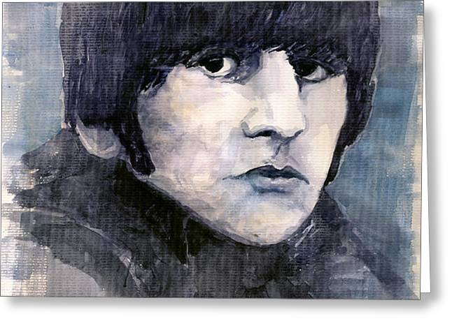 The Beatles Ringo Starr Greeting Card by Yuriy  Shevchuk