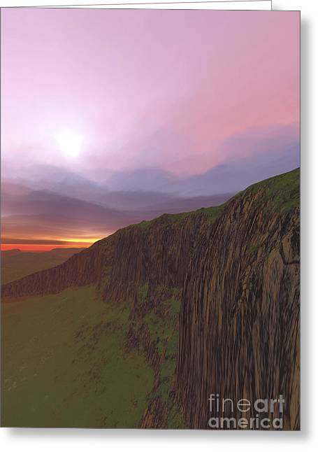 Creativity Desert Greeting Cards - The Beautiful Earth At Sunset Greeting Card by Corey Ford