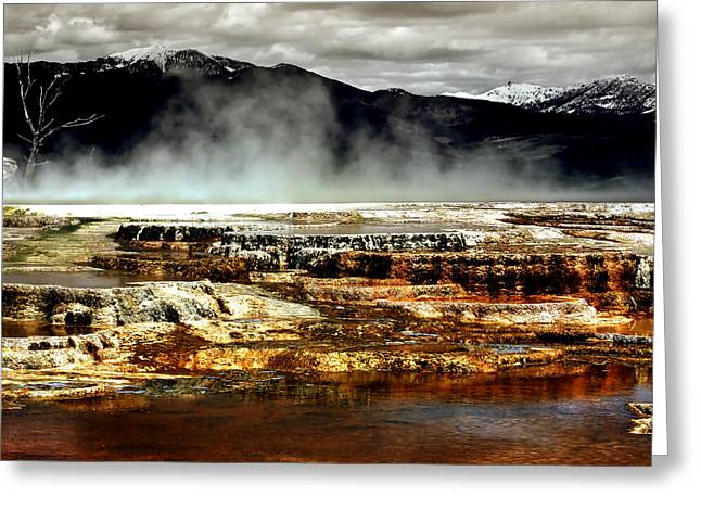 Yellowstone Digital Art Greeting Cards - The Beauty of Yellowstone Greeting Card by Ellen Heaverlo