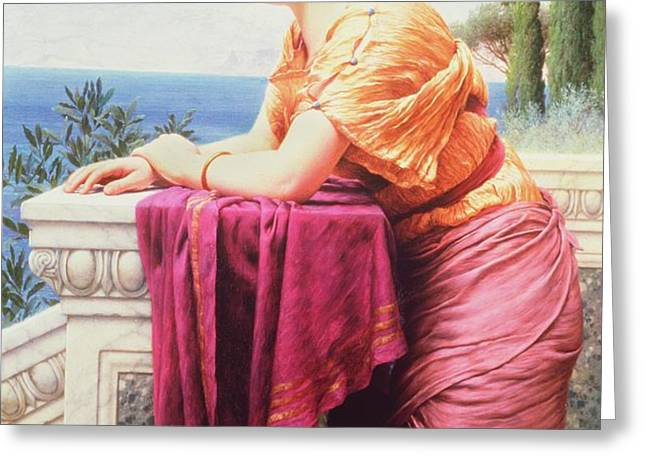 The Belvedere Greeting Card by John William Godward