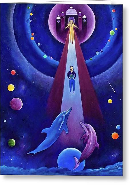 Dolphin Art Print Greeting Cards - The Bestowal Greeting Card by Lawrence Neal Katzman
