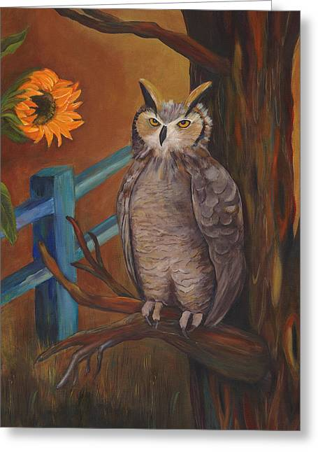 Owl Picture Greeting Cards - The Better Life- Owl Greeting Card by Debbie McCulley