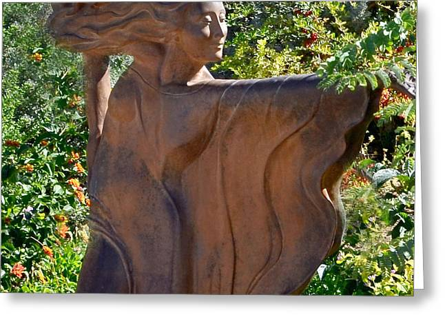 Recently Sold -  - Garden Statuary Greeting Cards - The Beyond Greeting Card by Diane Wood