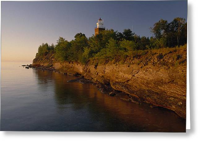 Hotels And Resorts Greeting Cards - The Big Bay Point Lighthouse, Now A Bed Greeting Card by Phil Schermeister