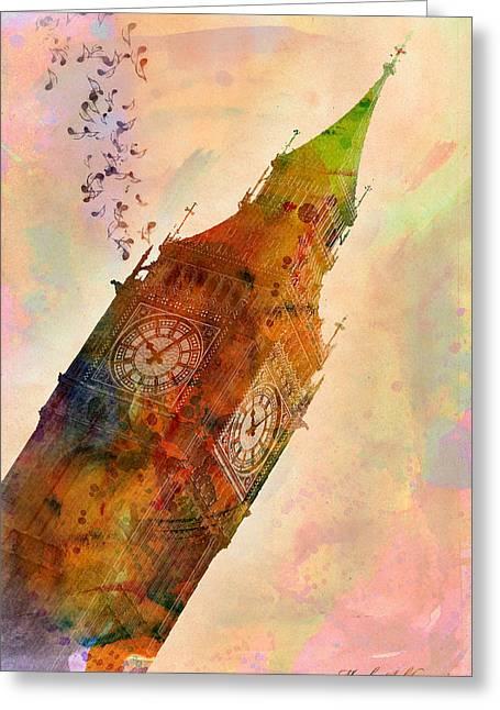 Historic England Greeting Cards - The Big Ben Greeting Card by Mark Ashkenazi