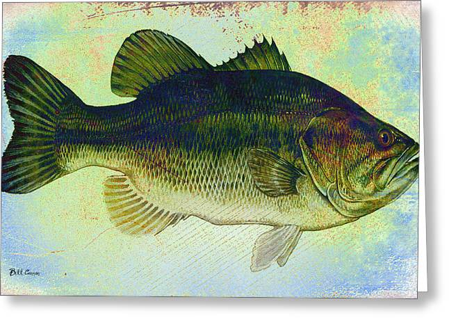 Fish Digital Art Greeting Cards - The Big Fish Greeting Card by Bill Cannon