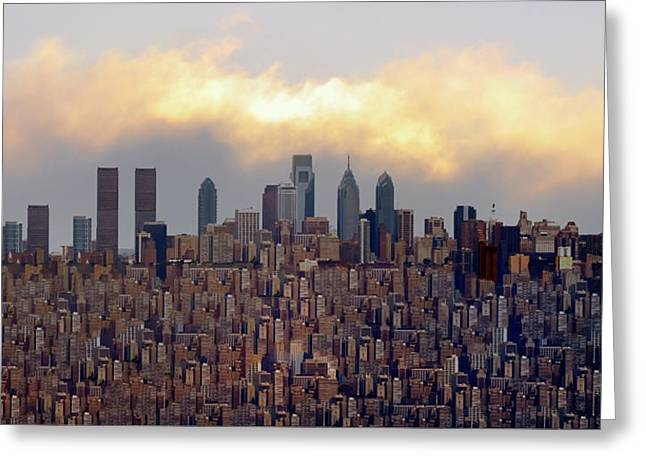 Philadelphia Digital Greeting Cards - The Bigger City Greeting Card by Bill Cannon