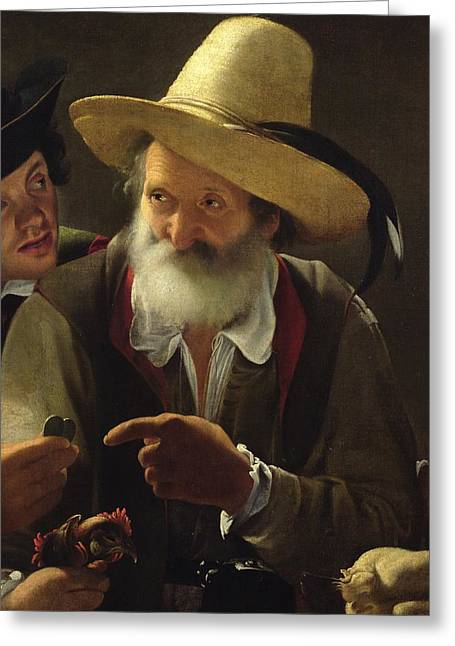 Arguing Greeting Cards - The Bird Seller Greeting Card by Pensionante de Saraceni