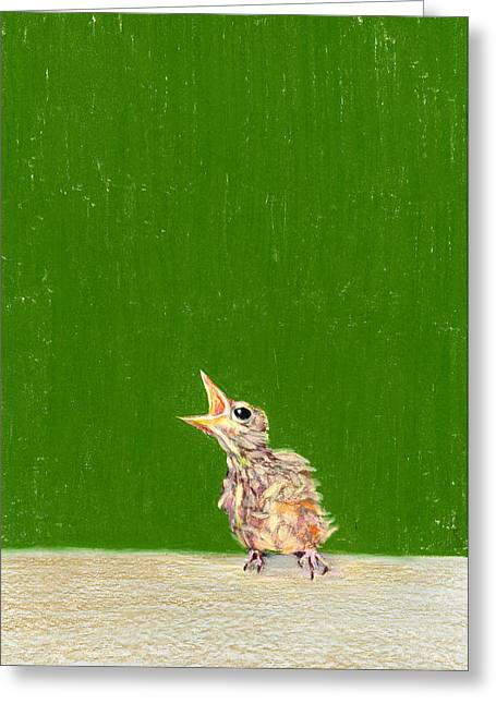 Political Allegory Paintings Greeting Cards - The Birdie Greeting Card by Albert Notarbartolo