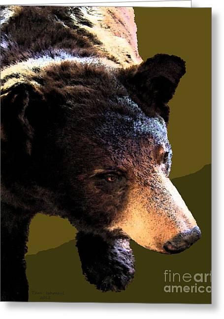 The Black Bear Greeting Card by Tammy Ishmael - Eizman
