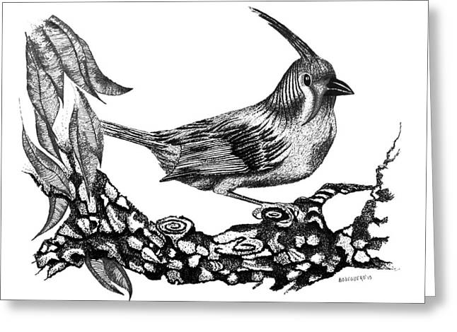 The Black Bird Greeting Card by Mario Perez