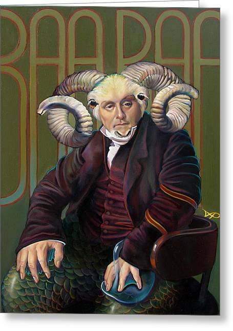 Horns Greeting Cards - The Black Sheep Greeting Card by Patrick Anthony Pierson