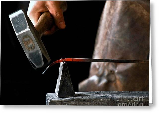 Jill Hyland Greeting Cards - The Blacksmith Greeting Card by Jill Hyland