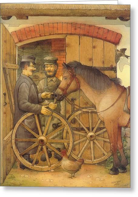 Blacksmith Greeting Cards - The Blacksmith Greeting Card by Kestutis Kasparavicius