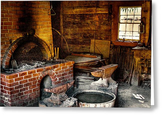 The Blacksmith Shop At Fort Nisqually Greeting Card by David Patterson