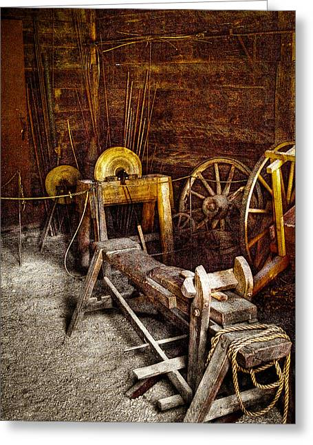 The Blacksmith Shop II Greeting Card by David Patterson