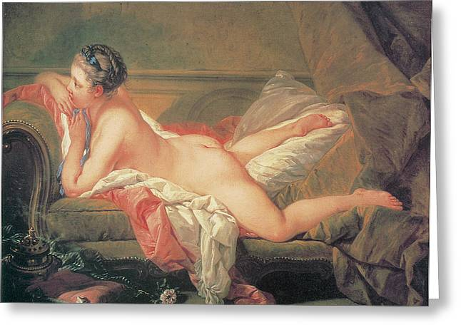 Francois Boucher Greeting Cards - The Blonde Odalisque Greeting Card by Francois Boucher
