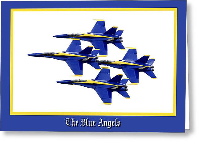 Helicopter Photographs Greeting Cards - The Blue Angels Greeting Card by Greg Fortier