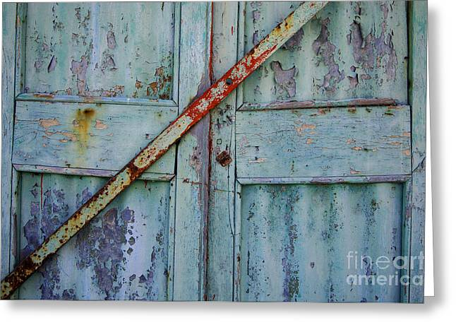 Caribbean Architecture Greeting Cards - The Blue Door 2 Grande Turk Greeting Card by Bob Christopher