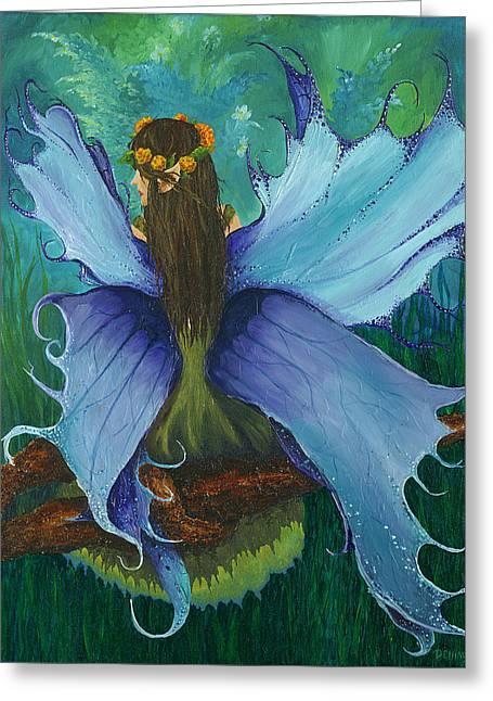 Deborah Ellingwood Greeting Cards - The Blue Fairy Greeting Card by Deborah Ellingwood