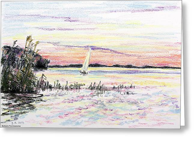 Seen Pastels Greeting Cards - The Blue Hour Greeting Card by Barbara Pommerenke