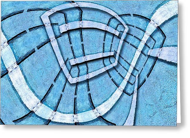 Geometric Digital Art Greeting Cards - The Blue Room Greeting Card by Paul Wear