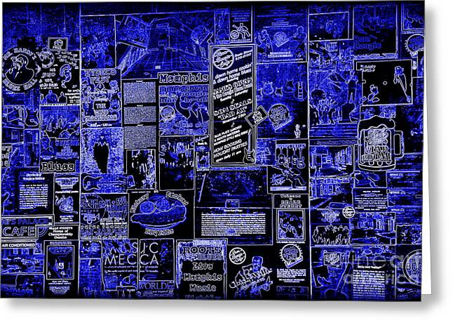 Advertisment Greeting Cards - The Blues in Memphis Greeting Card by Carol Groenen