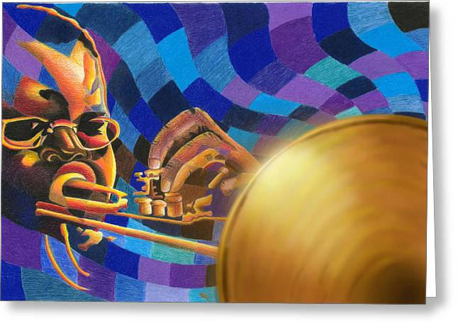 Session Musician Greeting Cards - The Blues Greeting Card by James  Mingo