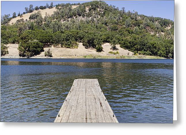 California Ocean Photography Greeting Cards - The Boat Dock At Lake Hennessey Greeting Card by Douglas Orton