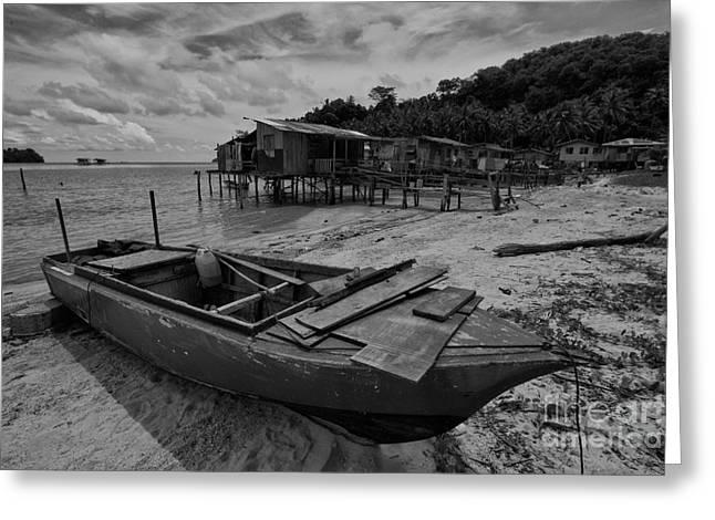 China Beach Greeting Cards - The Boat  Greeting Card by Gary Bridger