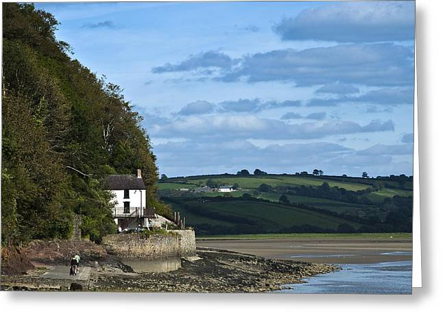 The Boathouse At Laugharne Landscape Greeting Card by Steve Purnell