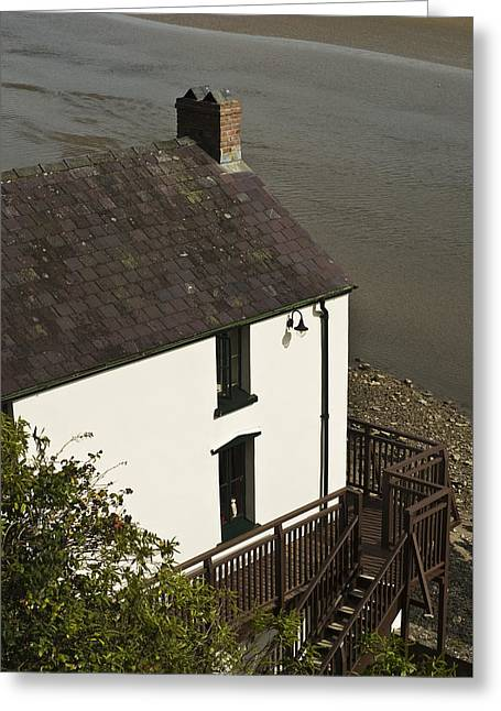 The Boathouse At Laugharne Greeting Card by Steve Purnell