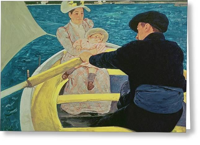 Wife Greeting Cards - The Boating Party Greeting Card by Mary Stevenson Cassatt
