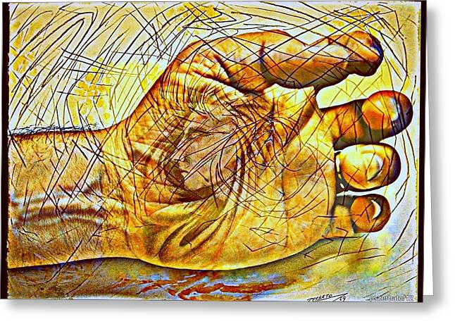 Code Of Individuality Digital Art Greeting Cards - The Body As The External Representation Of Internal Reality Greeting Card by Paulo Zerbato