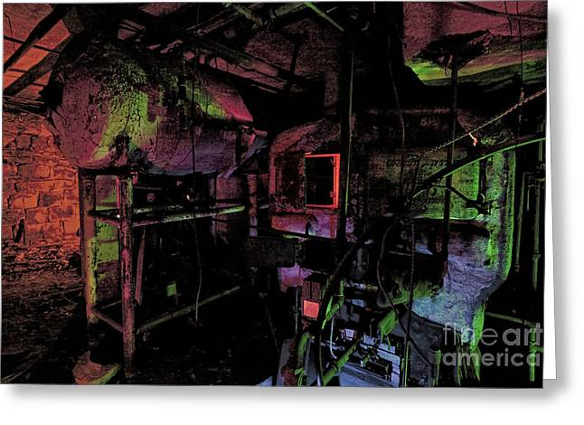Ghostly Greeting Cards - The Boiler Room Greeting Card by Keith Kapple