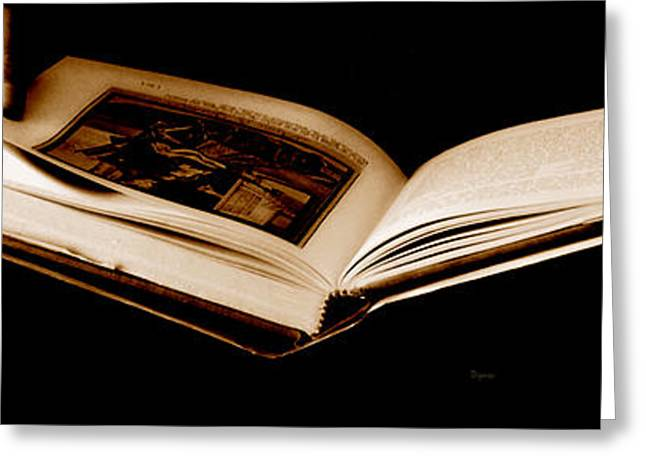 Art Book Greeting Cards - The Book  Greeting Card by Steven  Digman