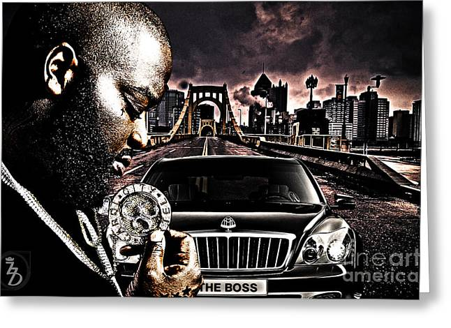 The Boss Greeting Cards - The Boss Greeting Card by The DigArtisT