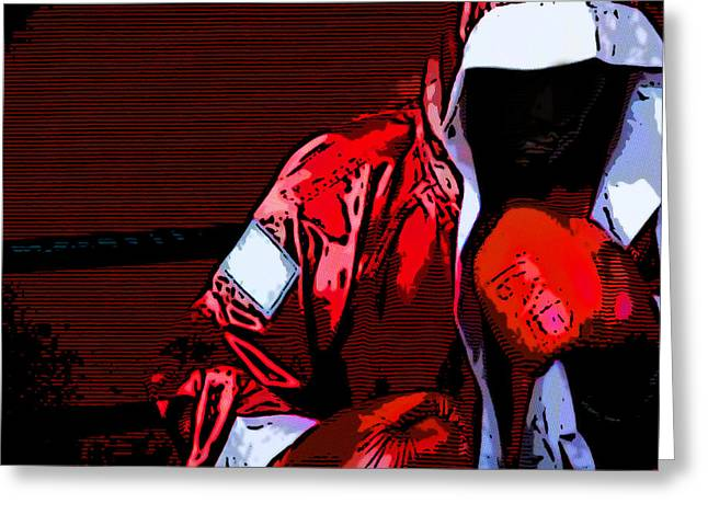 The Boxer Greeting Card by Rpics Rpics