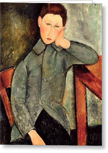 Bored Greeting Cards - The Boy Greeting Card by Amedeo Modigliani
