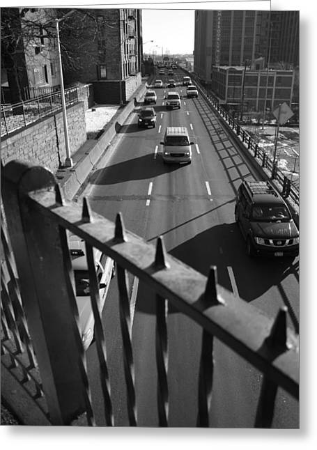 Brooklyn Promenade Greeting Cards - The BQE from The Promenade Greeting Card by Christopher Kirby