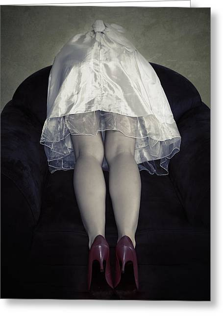 Anonymous Greeting Cards - The Bride From Behind Greeting Card by Joana Kruse